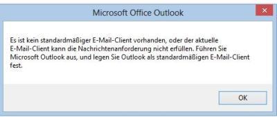 Fehlermeldung-Outlook