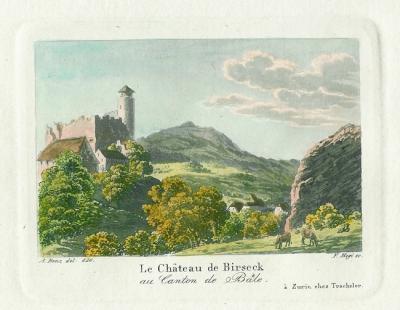 Benz-Hegi-Le-chateau-de-Birseck-au-Canton-de-Bale-1850