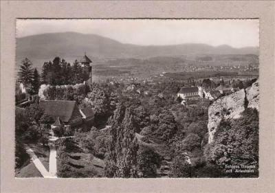 Postkarte-Schloss-Birseck-mit-Arlesheim