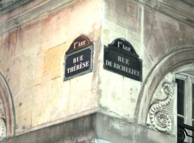 """""""Meine"""" Strasse - la Rue Thérèse - fusselt mit der von Monsieur Richelieu"""