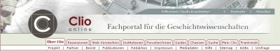 Clio-Online-Menue-oben