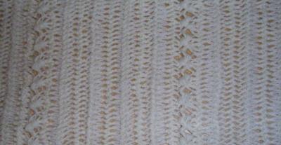 Schal aus Gabelhäkelei