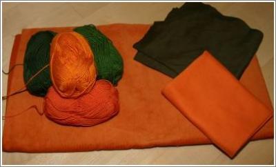 Gruen und Orange