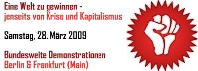 aufruf zu den märz-demonstrationen gegen die kapitalistische krise