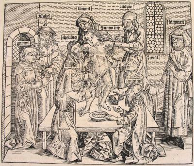 opferung eines chistlichen kindes<br /> nürnberg 1493<br /> quelle: wikipedia