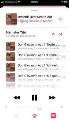 Wenn ich heute Opern höre, so tue ich das auf meinem iPhone in Verbindung mit Apple Music!