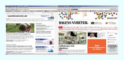 sueddeutsche vs. dagens nyheter