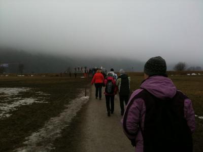 Schlechte Aussichten - Nebel hängt im Renn-Hang.
