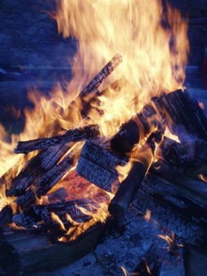 Lagerfeuer beim Waldviertler Bloggertreffen