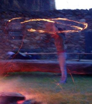 mm-devil's Feuershow beim Waldviertler Bloggertreffen 2007