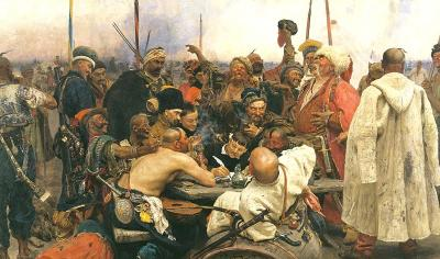 Die donkosaken und in der ukraine die saporoger oder dneprkosaken