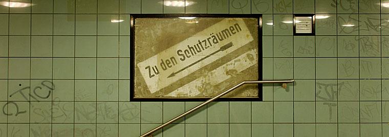 Berlin Zu den Schutzräumen