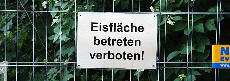 Berlin Eisfläche betreten verboten!