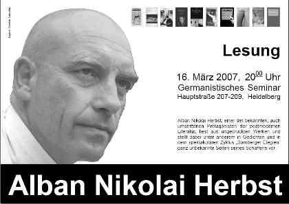 alban nikolai herbst in heidelberg