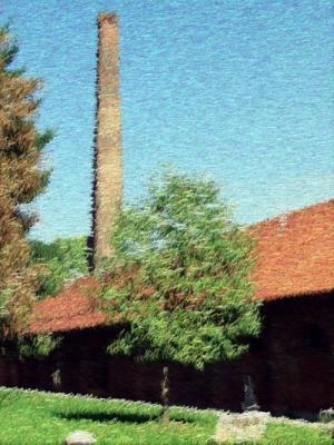 grüne wiesen, blaue himmel, sonne und ein künstlich beleuchteter tagungssaal