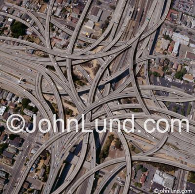 Complex-Freeway-Interchange-Cloverleaf