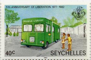 Briefmarke-mobile-library-Seychellen