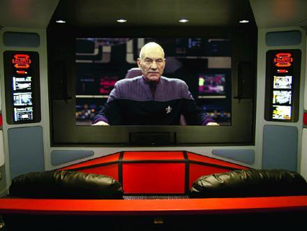 Heimkino im Design der Brücke des Raumschiffs Enterprise 1701!