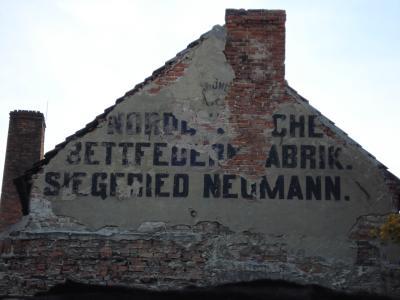 Bettfedernfabrik Siegfried Neumann in der Gubener Straße