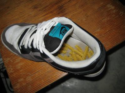 Nudeln im Schuh