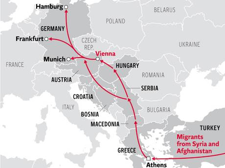 Refugee-routes