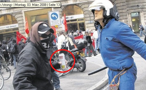 Ausschnitt aus BaZ-Foto vom 3. März 2008