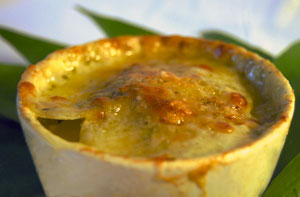 Kartoffelgratin mit Bärlauchpesto