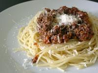 Spaghetti con ragu alla bolognese