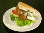 Falafel Sandwich fertig