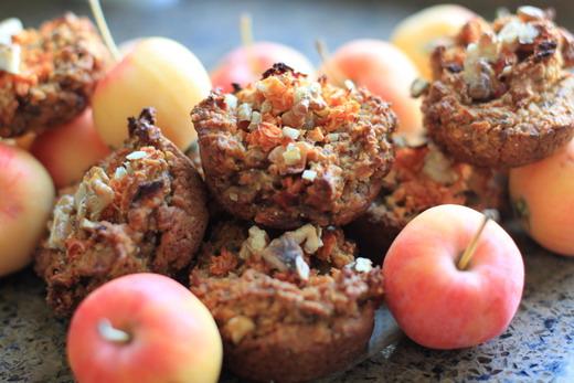 Apfel-Walnuss-Mini-Muffins