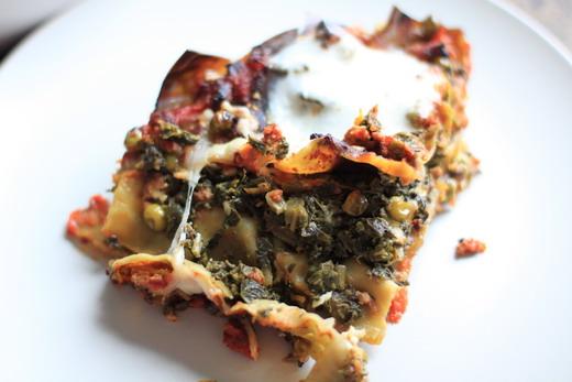 Gruenkohl Lasagne mit Hackfleisch