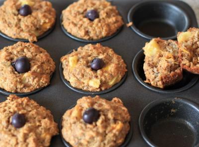 Muffins-mit-Haferflocken-Leinsamen