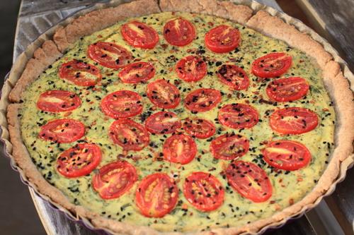 Tomaten-Quiche-Seidentofu