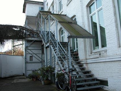 Treppe-Hinterhof