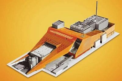 Schaut nur der Hauptbücherei ähnlich, ist aber eine Müllverbrennungsanlage - vom selben Architekten Ernst Mayr.