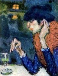 Picasso-bleue-blue-period-buveuse-d-absinthe