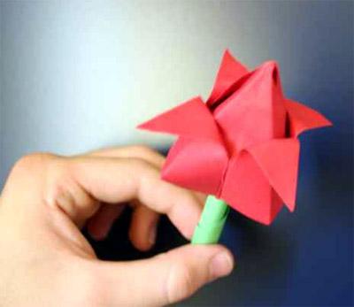 Origami-Rose