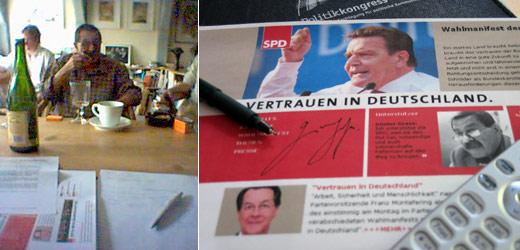 Wahlkampf mit Günter Grass