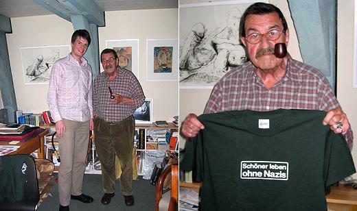 """Günter Grass unterstützt die Kampagne """"Schöner leben ohne Nazis"""""""