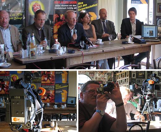 Pressegespräch mit Klaus Staeck und der Aktion für mehr Demokratie
