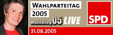 Live-Blog vom SPD-Parteitag am 31.08.2005