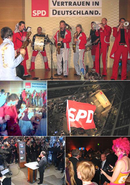 SPD-Party in der Wahlnacht des 18. Septembers 2005