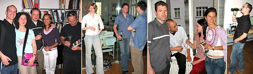 Sektempfang im neuen Büro am 30. Juni 2005 [weitere Bilder]