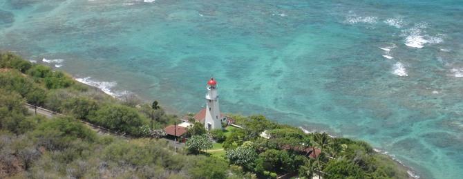 Blick vom Diamond Head, Honolulu, Hawaii