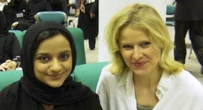 Nayla Al Kahja and Julia Schmitt-Thiel at Insight Dubai Conference