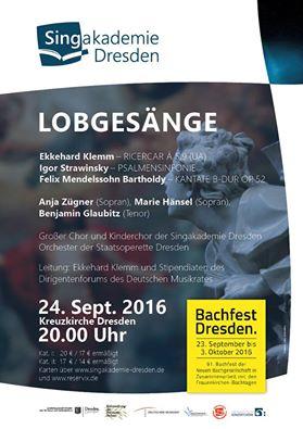 Plakat-Lobgesaenge