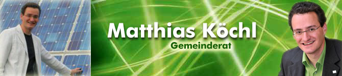 Matthias Köchl Nationalratskandidat der Grünen