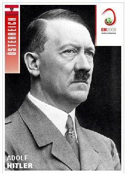 Das Adolf Hitler Panini Bildchen zur EM 2008