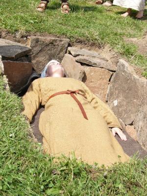 Kammergrab mit Bestattung