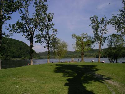 Zusammenfluss Donau und Inn in Passau